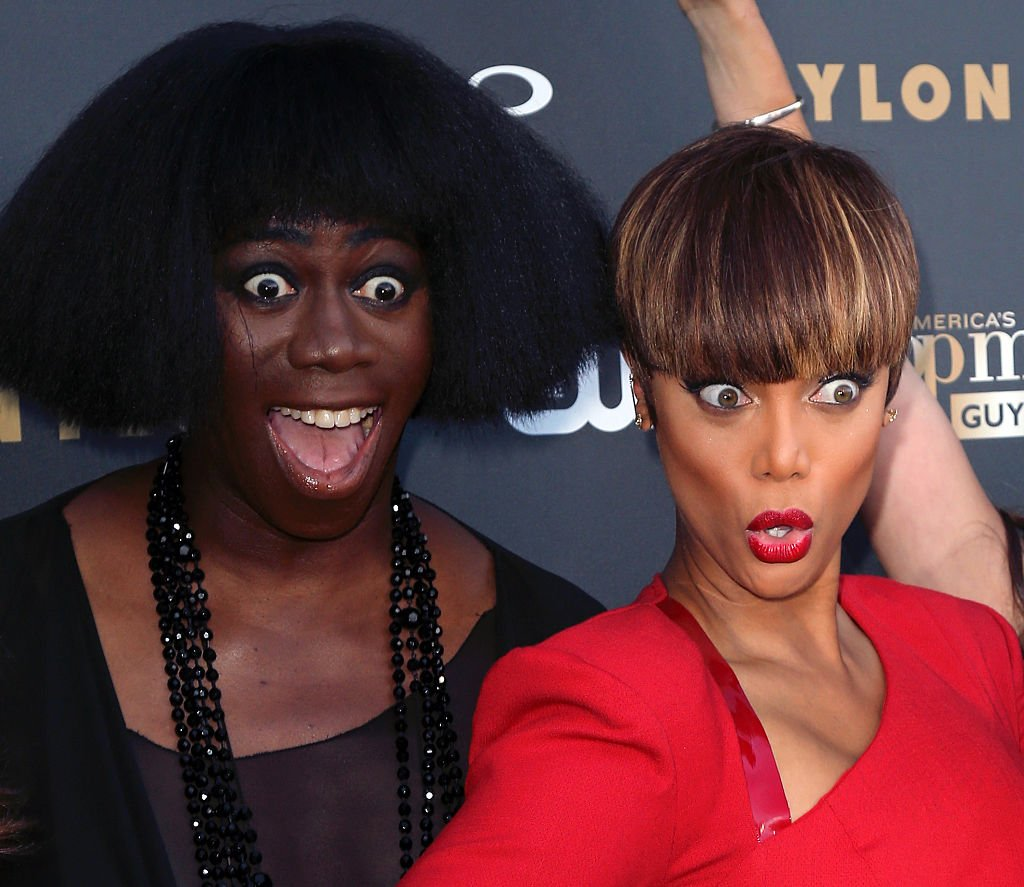 """Image Credit: Getty Images / ANTM Host and Creator Tyra Banks (L) and ANTM Judge J. Alexander attend the """"America's Next Top Model"""" Cycle 22 Premiere Party presented by OPPO and NYLON on July 28, 2015 in West Hollywood."""