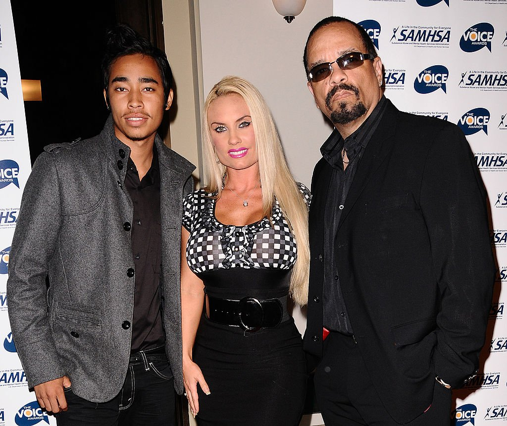 Image Credit: Getty Images / Ice-T (R) his wife Coco Nicole Austin (C) and son Lil Ice (L) attend the 2009 Voice Awards at Paramount Theater on the Paramount Studios lot on October 14, 2009 in Los Angeles, California.
