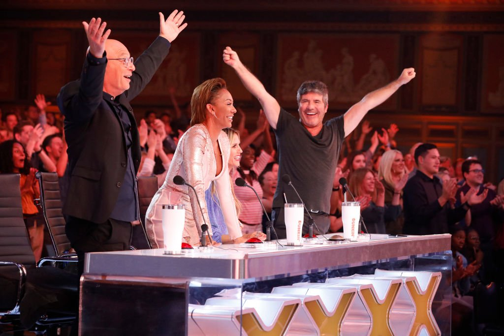 Image Credit: Getty Images / America's Got Talent: The Champions - Season 1, Howie Mandel, Mel B, Heidi Klum, Simon Cowell.