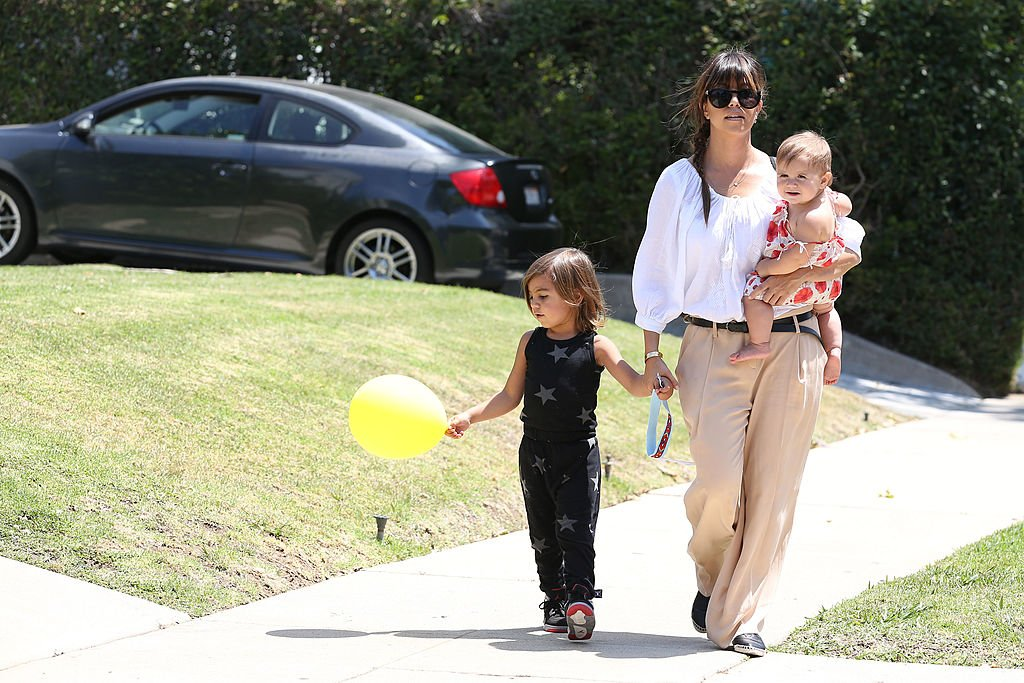 Image Credit: Getty Images / Kourtney Kardashian with children Mason Disick and Penelope Disick are seen on June 08, 2013 in Los Angeles, California.