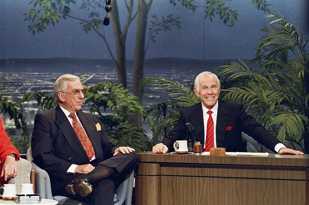 Image Credits: Getty Images / Alice S. Hall / NBCU Photo Bank | Co-host Ed McMahon, Host Johnny Carson.