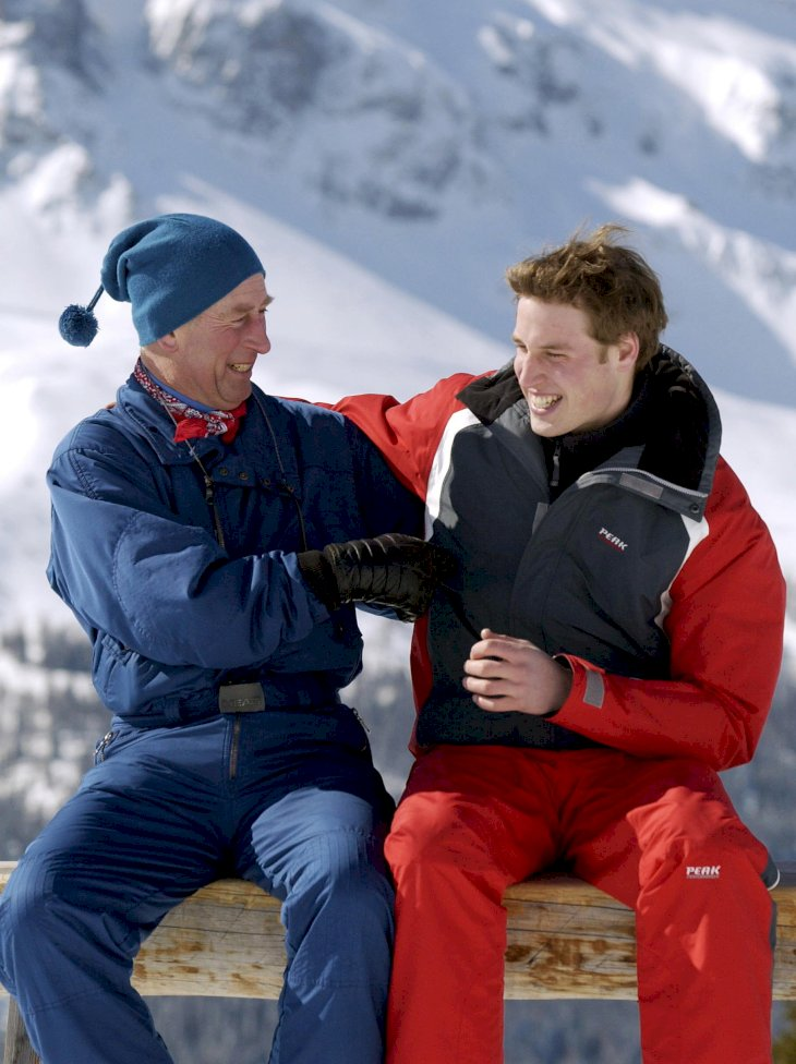 Image Credit: Getty Images / Prince Charles and Prince William on a ski holiday.