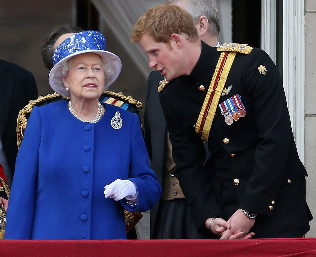 Image Source: Getty Images/ Prince Harry with the Queen