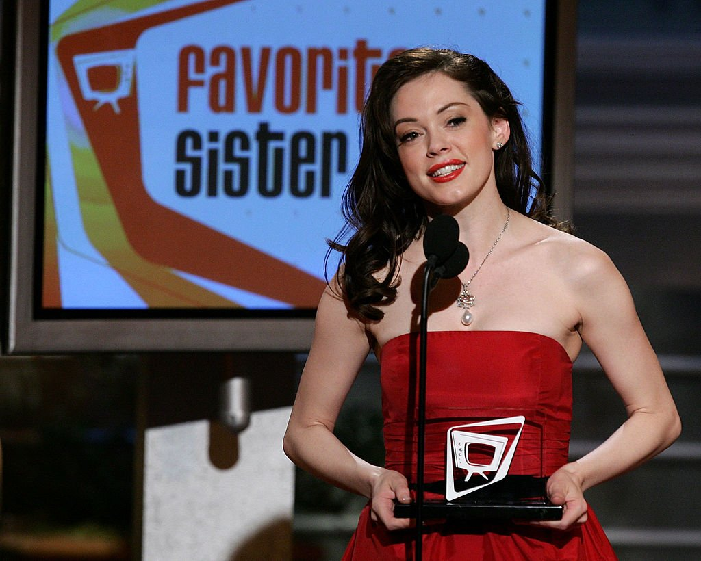 Image Credit: Getty Images / Actress Rose McGowan accepts Favorite Sister Award onstage at the Seventh Annual Family Television Awards at the Beverly Hilton Hotel on November 30, 2005.