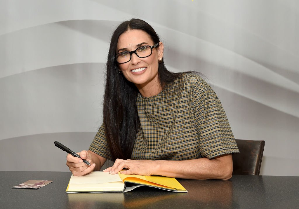 "Image Credit: Getty Images / Actress Demi Moore attends the signing of her memoir ""Inside Out"" at Barnes & Noble Union Square on September 24, 2019."