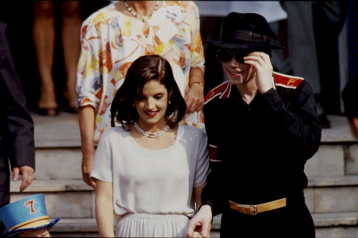 Image Credit: Getty Images / Michael Jackson with Lisa Marie Presley in Budapest.