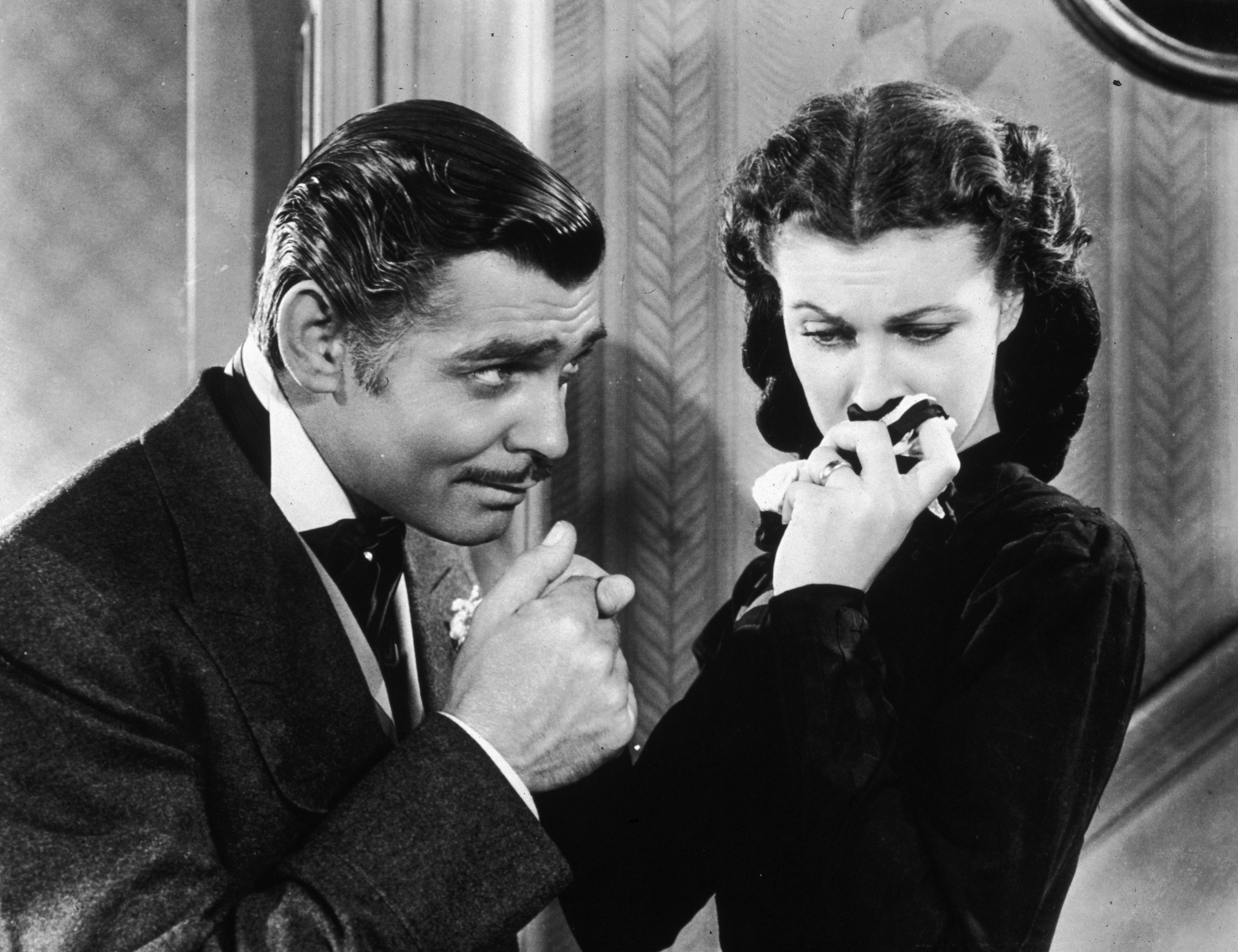 "Image Credits: Getty Images | Vivien Leigh and Clark Gable in a scene from ""Gone With The Wind"""