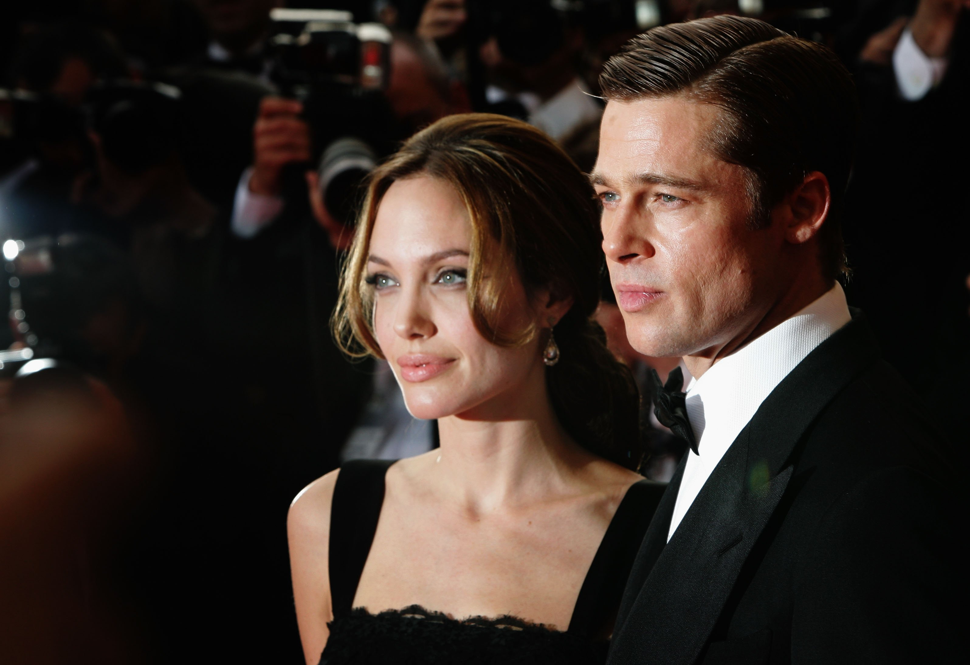 "Image Credit: Getty Images/Gareth Cattermole | Pitt and Jolie attend the premiere for the film ""A Mighty Heart"""