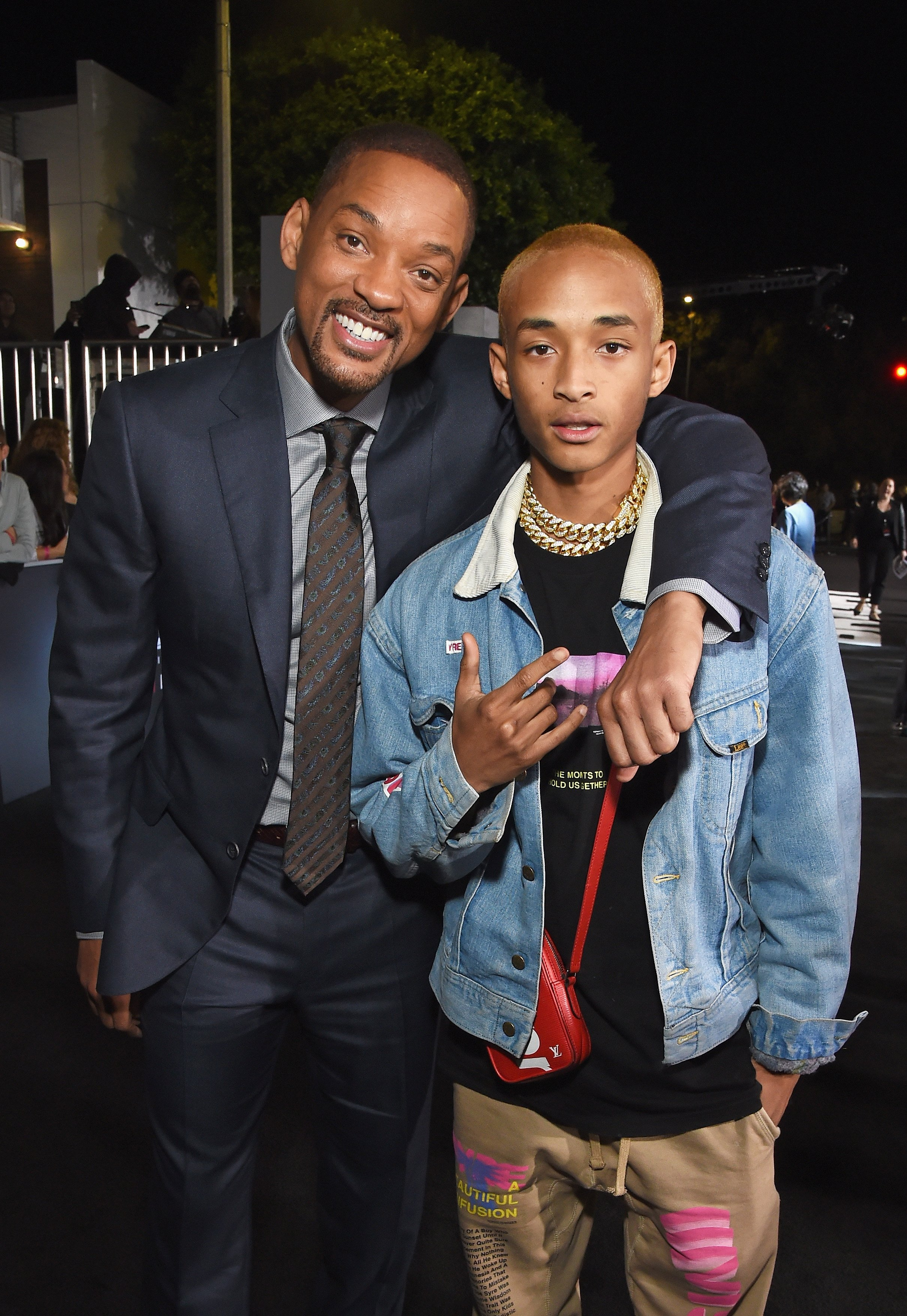 Image Credits: Getty Images / Michael Kovac | Will Smith (L) and Jaden Smith attend the LA Premiere of Netflix Films 'BRIGHT' on December 13, 2017 in Los Angeles, California.