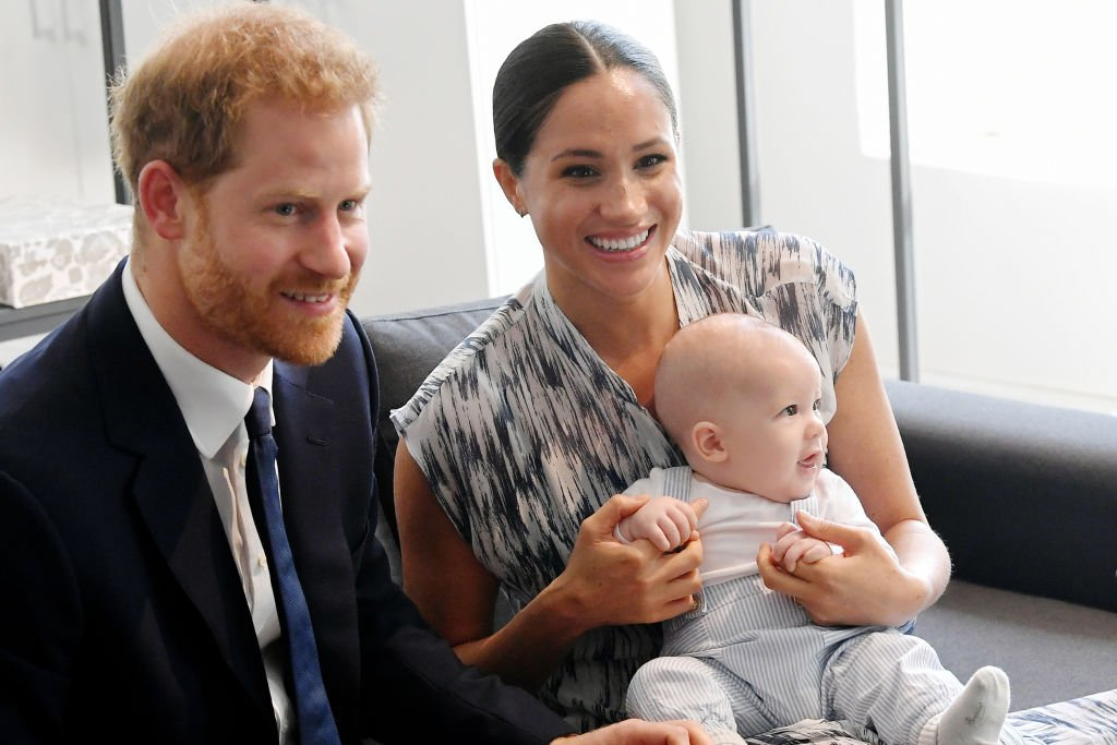 Image Credit: Getty Images / Prince Harry, Duke of Sussex, Meghan, Duchess of Sussex and their baby son Archie Mountbatten-Windsor meet Archbishop Desmond Tutu during their royal tour of South Africa on September 25, 2019.