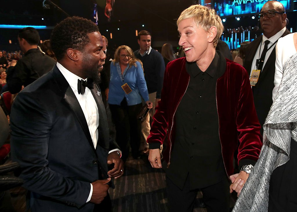 Image Credits: Getty Images / Christopher Polk | Kevin Hart and Ellen DeGeneres attend the People's Choice Awards 2017 on January 18, 2017 in Los Angeles, California