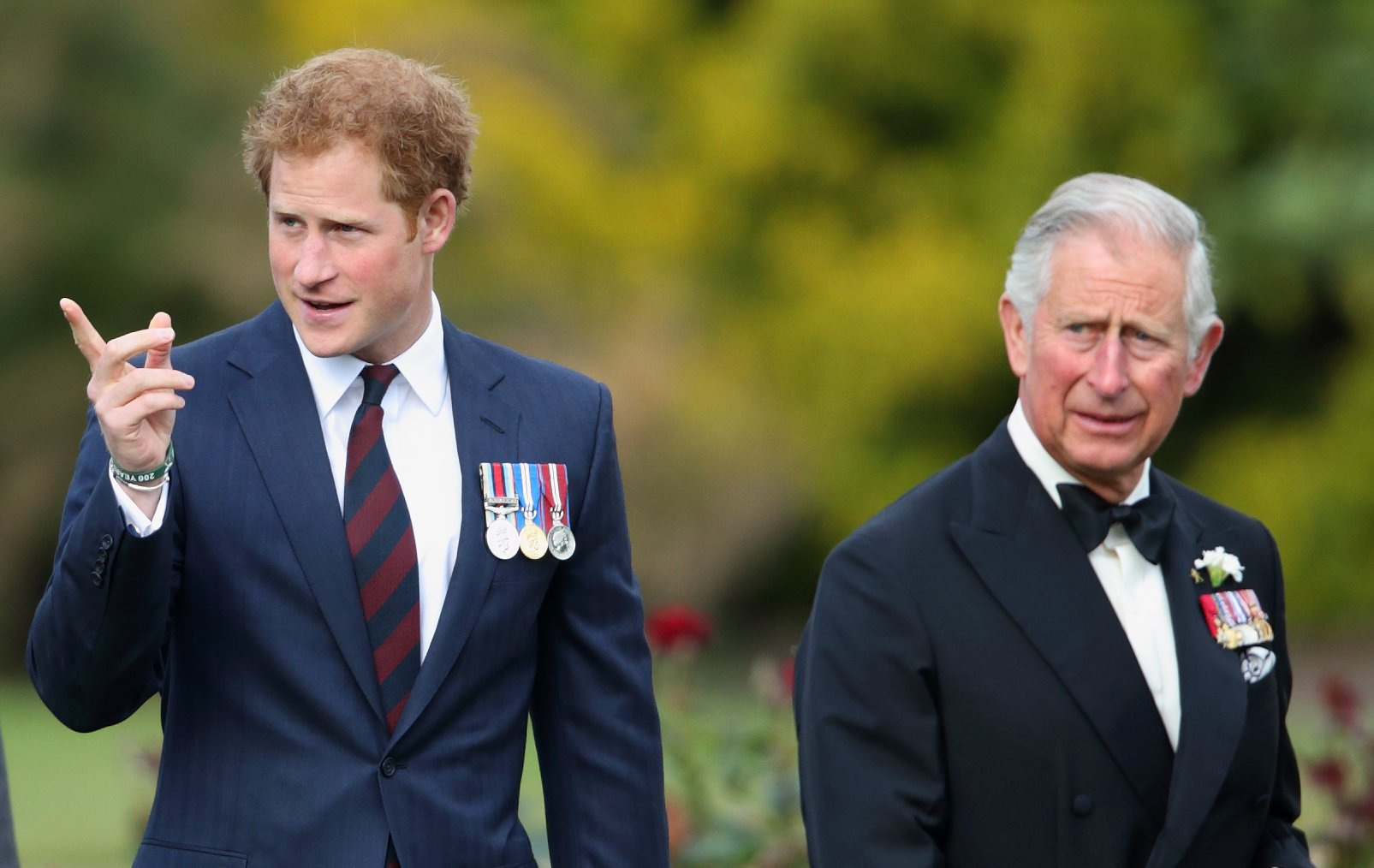 Image Credits: Getty Images / Max Mumby / Indigo   Prince Harry and Prince Charles, Prince of Wales attend the Gurkha 200 Pageant at the Royal Hospital Chelsea on June 9, 2015 in London, England.