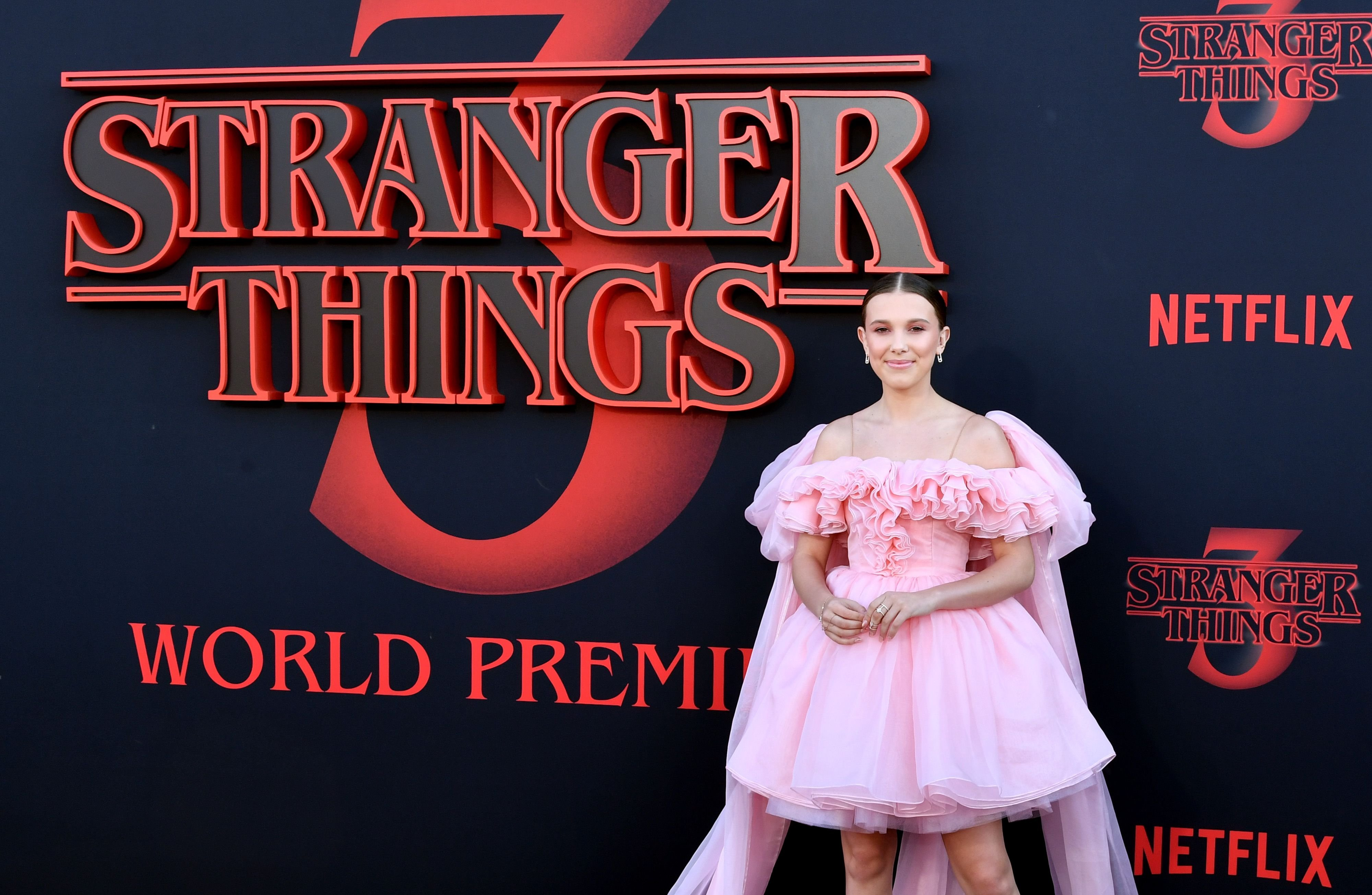 Millie Bobbie Brown at the Stranger Things season 3 premiere/Photo:Getty Images