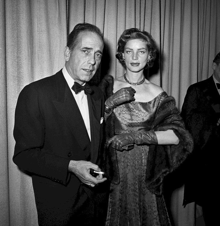 Image Credit: Getty Images / Humphrey Bogart and his wife, Lauren Bacall.