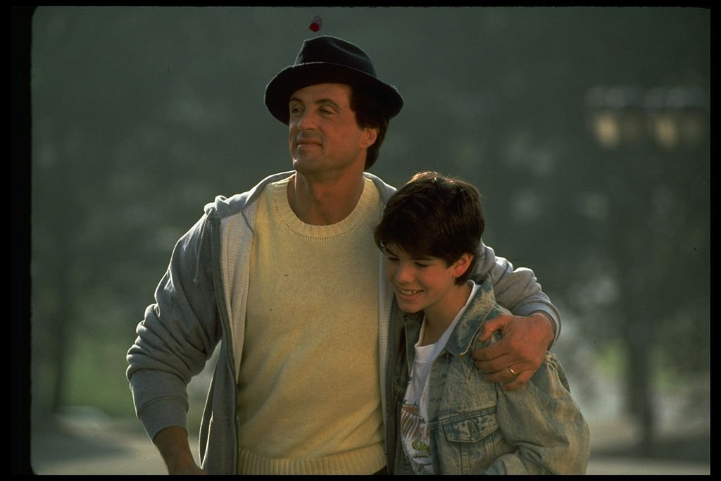 Image Source: Getty Images/The LIFE Images Collection via Getty Images/John Bryson | Still of Sylvester and Sage Stallone in Rocky V
