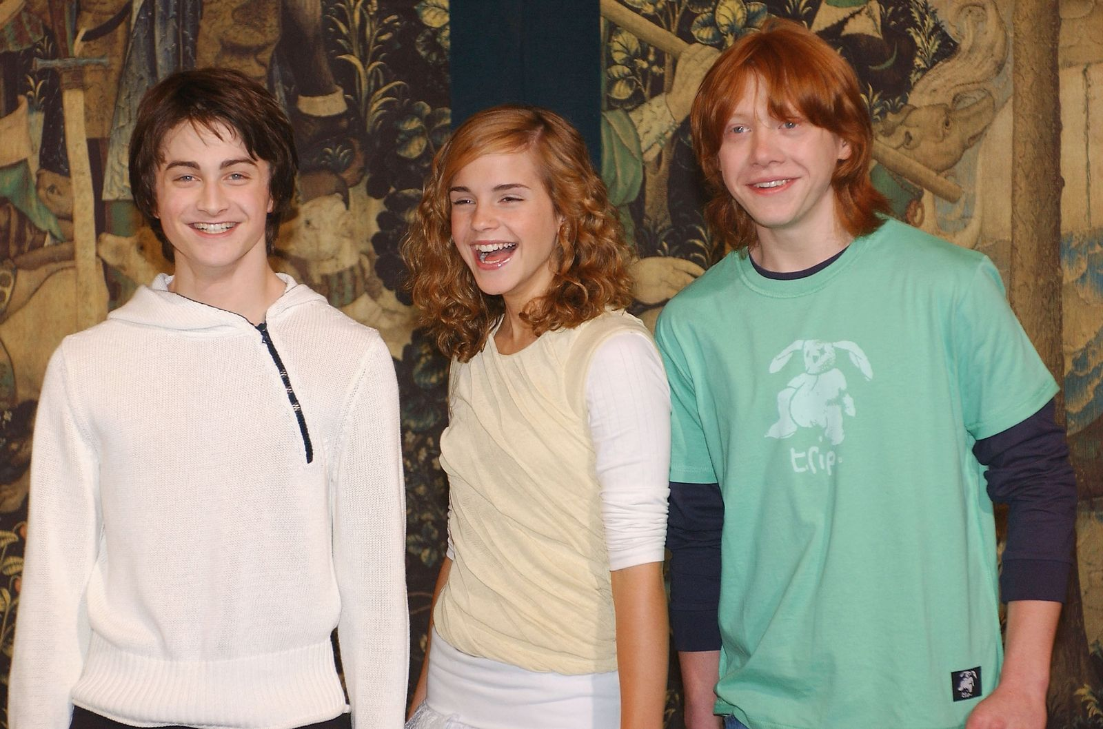 Daniel Radcliffe, Rupert Grint and Emma Watson/Photo:Getty Images