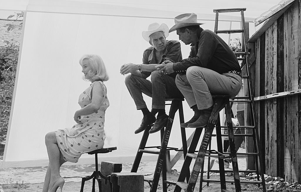 Image Credit: Getty Images / Actors Marilyn Monroe and Clark Gable in Nevada for the location filming of 'The Misfits'.
