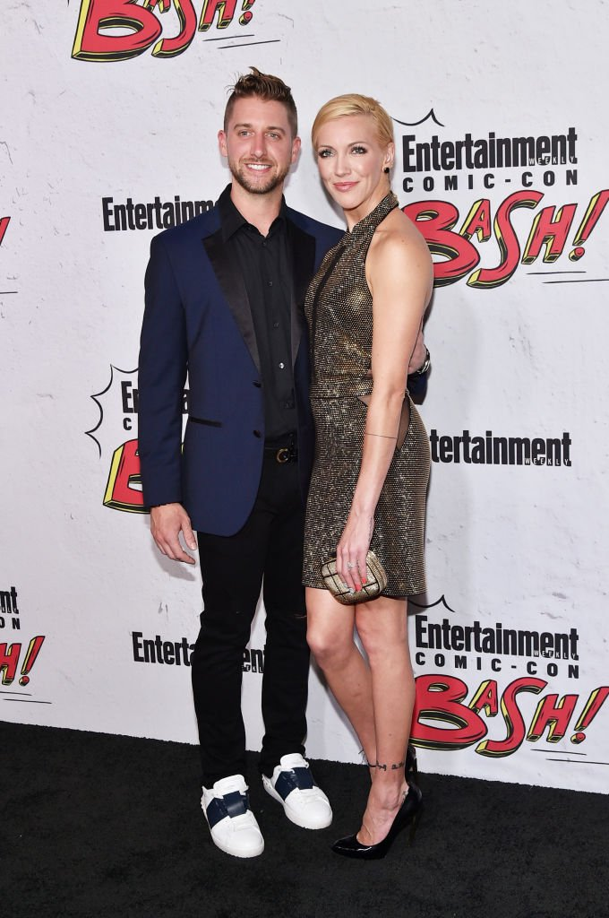 Image Source: Getty Images/C Flanigan /Katie Cassidy (R) and Matthew Rodgers at Entertainment Weekly's annual Comic-Con party in celebration of Comic-Con 2017