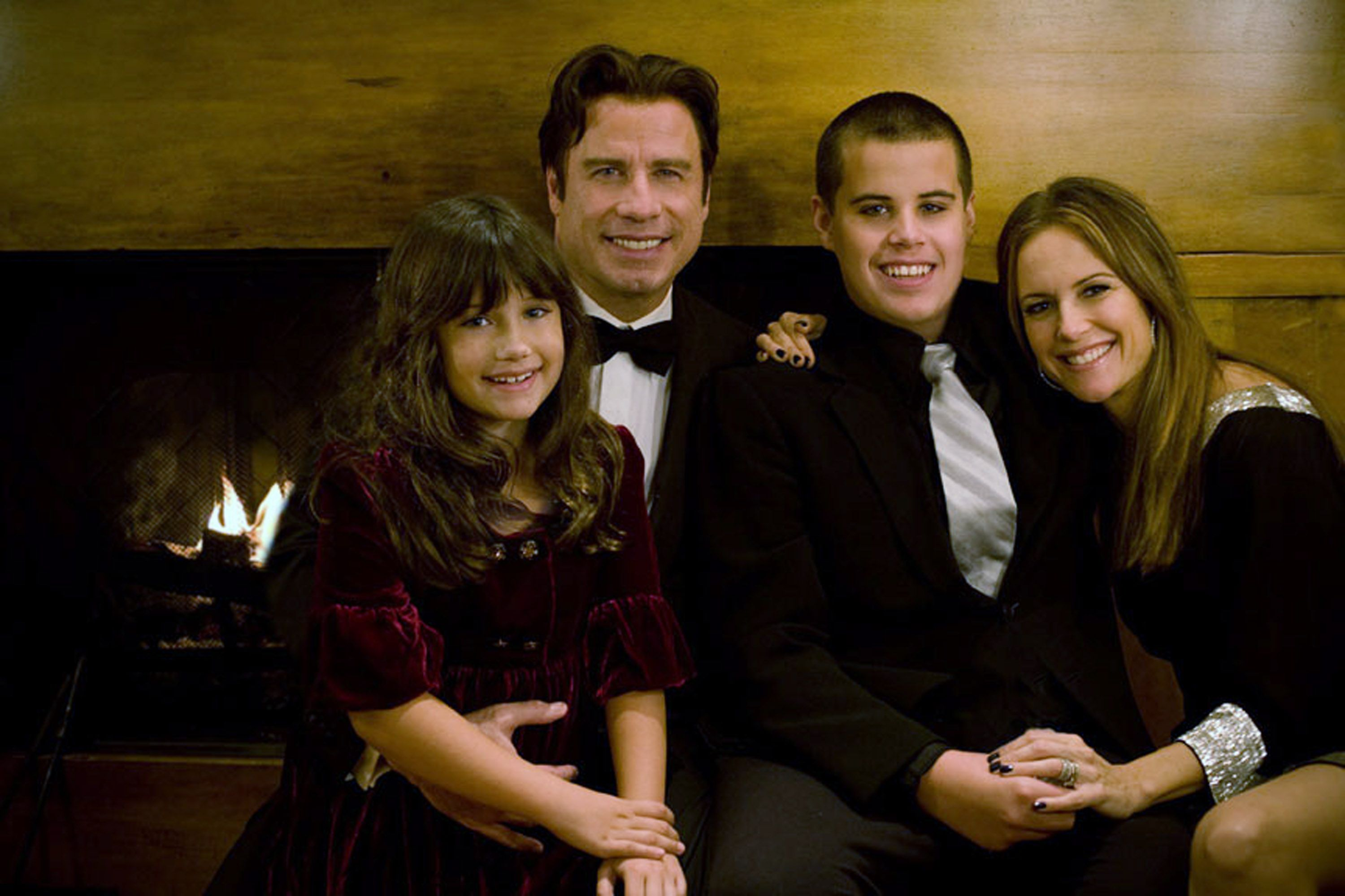 John Travolta and Kelly Preston with their children Jett Travolta and Ella Bleu Travolta/Photo:Getty Images