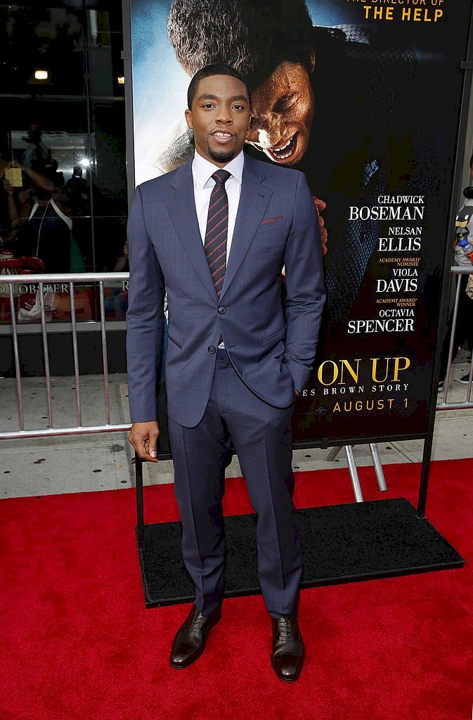 "Image Credits: Getty Images / Chadwick Boseman at ""Get On Up"" New York Premiere Arrivals"