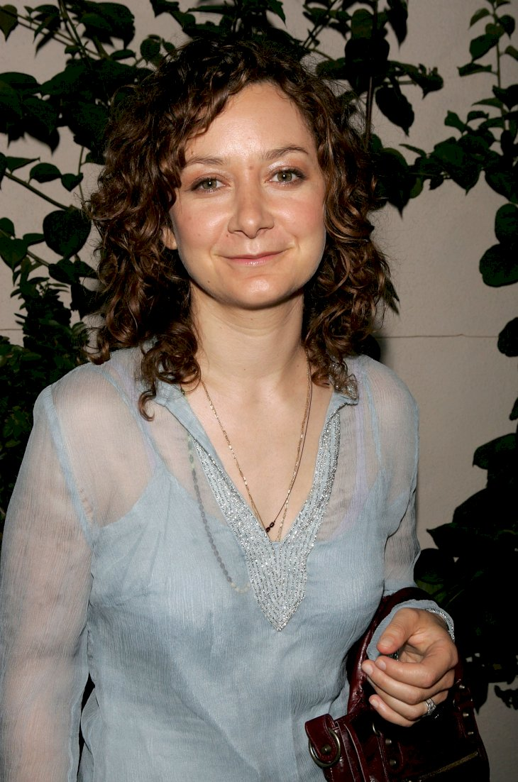 Image Credit: Getty Images/Kevin Winter | Sara Gilbert arrives at the WB Network stars party at the Cabana Club