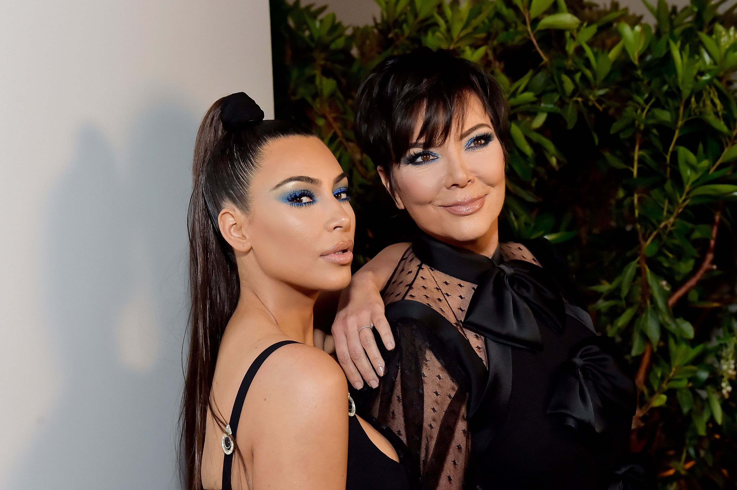 Kim Kardashian and Kris Jenner / Getty Images
