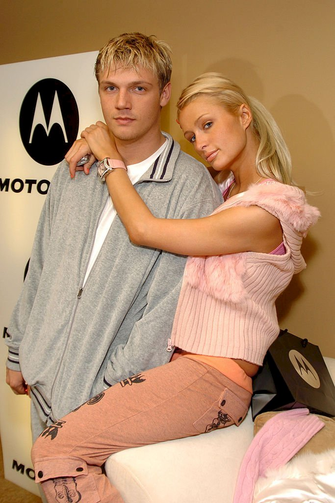 Image Credits: Getty Images / Dimitrios Kambouris / WireImage | Nick Carter and Paris Hilton.