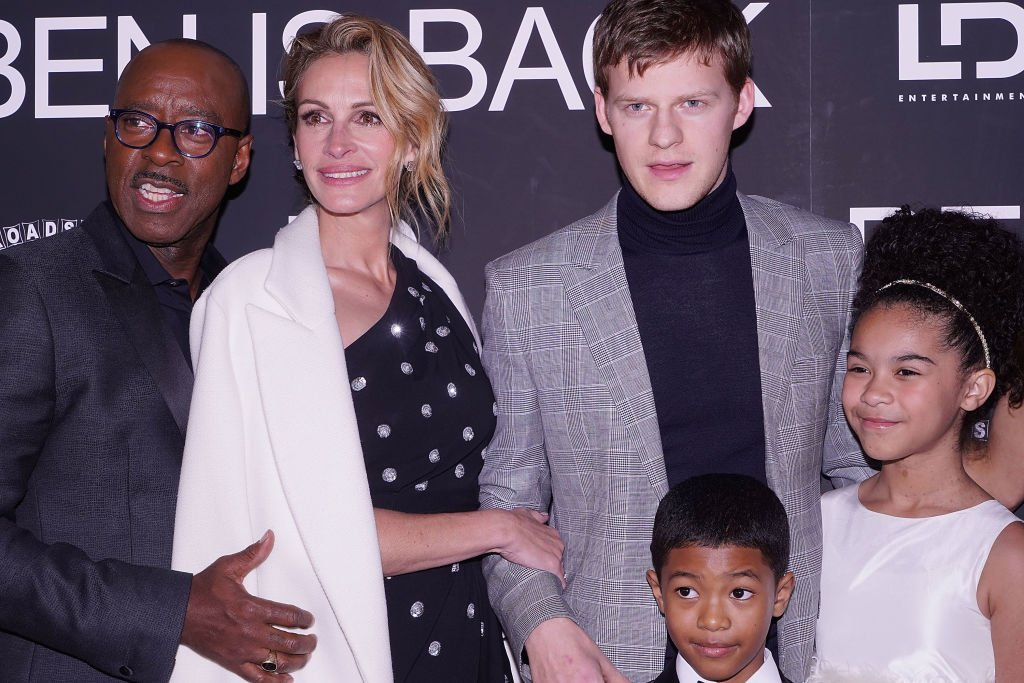 "Image Source: Getty Images/Jimi Celeste/Courtney B. Vance, Julia Roberts, Lucas Hedges, Jakari Fraser and Mia Fowler attend the New York premiere of ""Ben is Back"" at AMC Loews Lincoln Square on December 3, 2018 in New York City"
