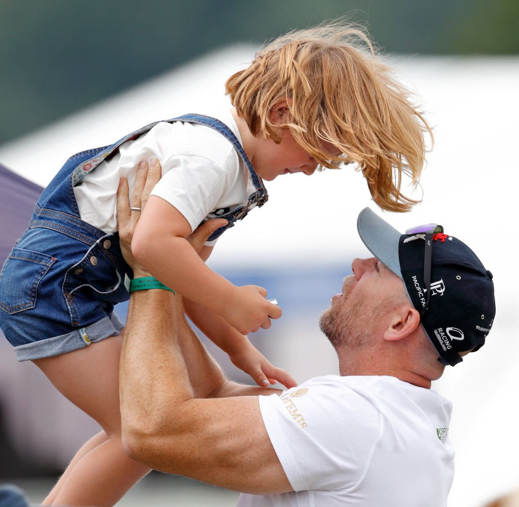 Image Credit: Getty Images / Mike Tindall and daughter Mia Tindall attend day 3 of the 2019 Festival of British Eventing at Gatcombe Park on August 4, 2019 in Stroud, England.