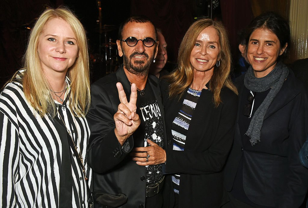 "Image Credits: Getty Images / David M. Benett / Dave Benett | (L to R) Lee Starkey, Ringo Starr, Barbara Bach and Francesca Gregorini attend the launch of ""Issues"", a new album by SSHH in aid of Teenage Cancer Trust, at The Box on September 5, 2016 in London, England."