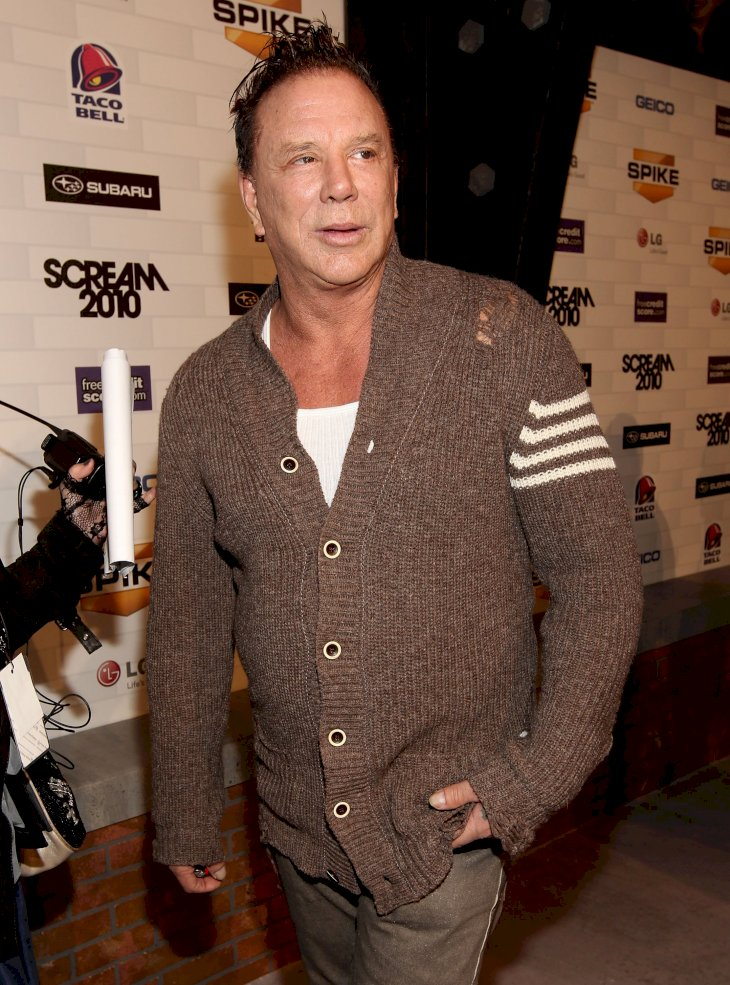 Image Credit: Getty Images / Mickey Rourke at an event.