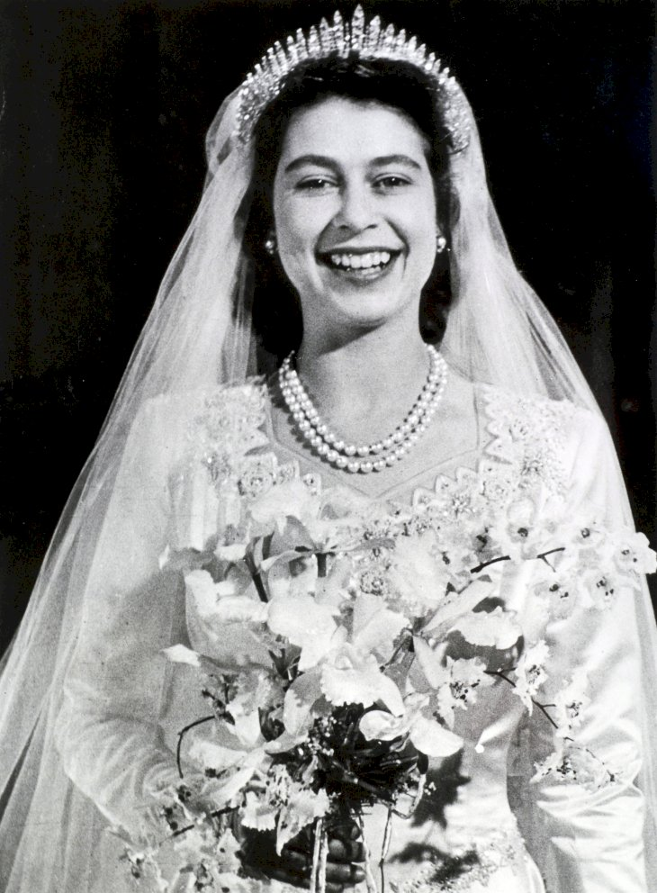 Image Credit: Getty Images / Queen Elizabeth II on her wedding day.