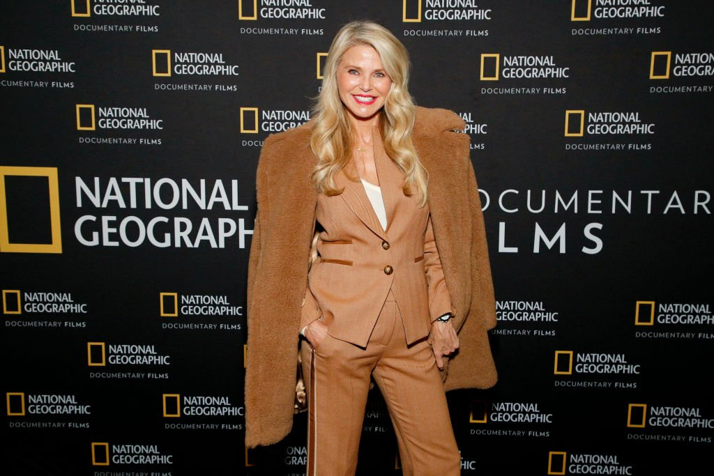"Image Credits: Getty Images / Astrid Stawiarz | Christie Brinkley attends a Special Screening Of National Geographic's Oscar-Nominated Documentary ""The Cave"" with Film Subject Dr. Amani Ballour at AMC Lincoln Square Theater on February 03, 2020 in New York City."