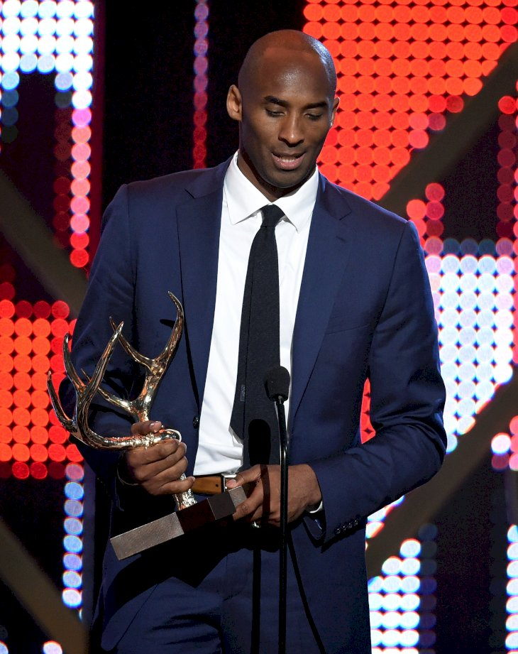 Image Credits: Getty Images / Kevin Winter | Former NBA player Kobe Bryant accepts the Athlete Of The Decade award onstage during Spike TV's 10th Annual Guys Choice Awards at Sony Pictures Studios on June 4, 2016 in Culver City, California.