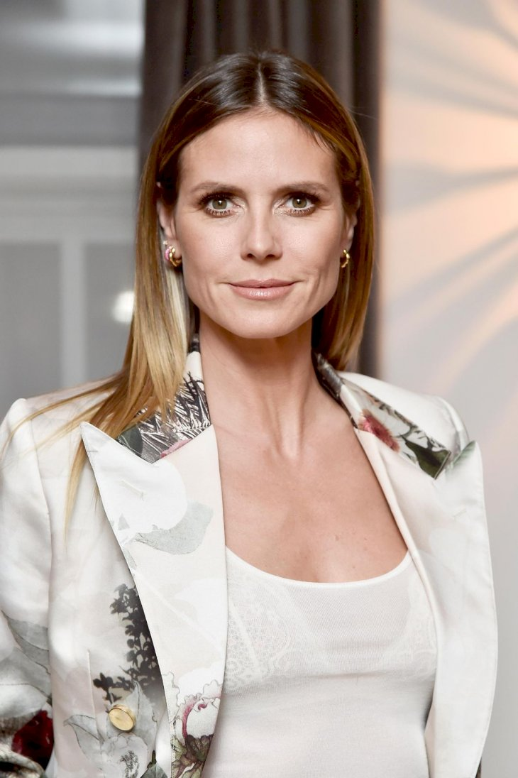 Heidi Klum attends the Wolk Morais Collection 6 Fashion Show at The Hollywood Roosevelt Hotel on January 17, 2018 in Los Angeles, California. (Photo by Frazer Harrison/Getty Images for Wolk Morais)