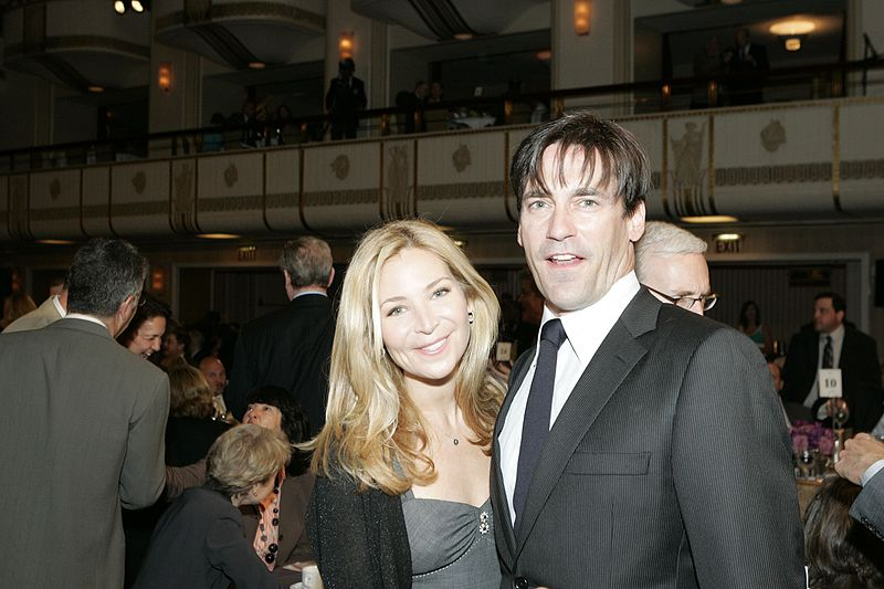 Wikimedia Commons/Jennifer Westfeldt and Jon Hamm at the 67th Annual Peabody Awards for Mad Men