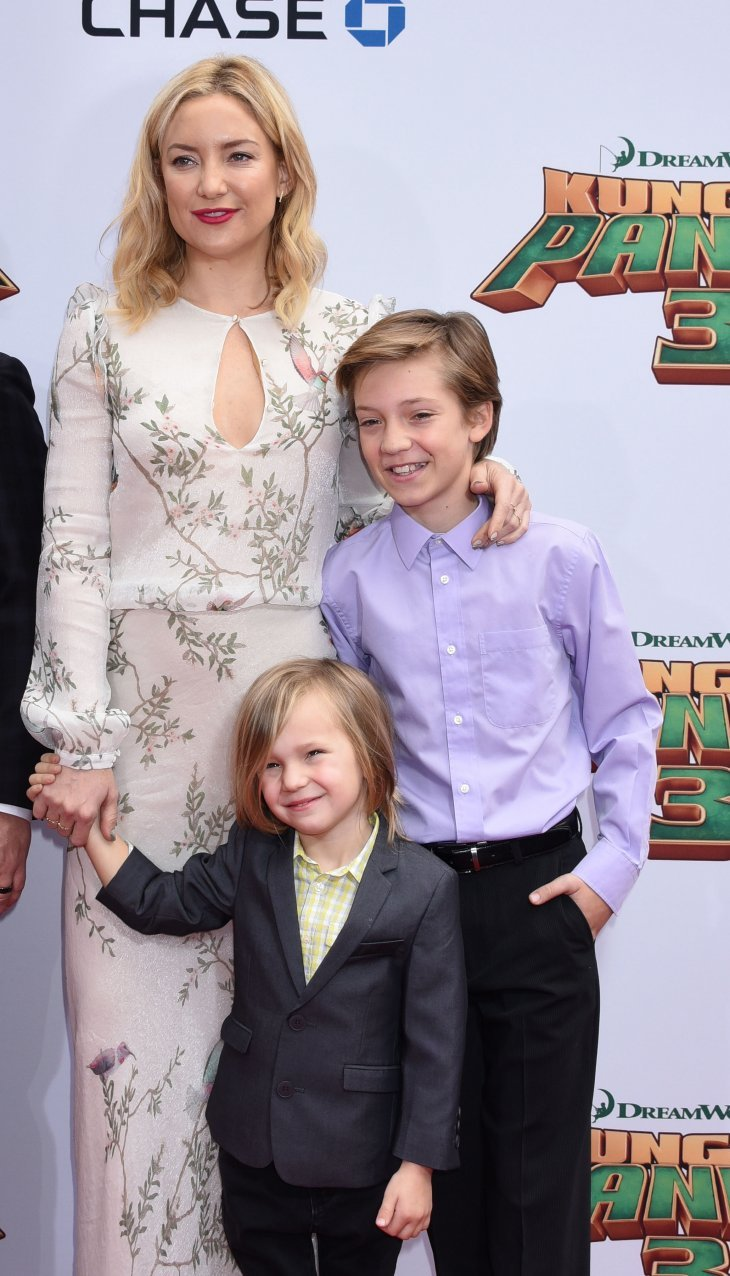 Image Credits: Shutterstock / Ga Fullner | Kate Hudson and sons Ryder and Bingham arrives at the Kung Fu Panda 3 World Premiere on January 16, 2016 in Hollywood, CA.