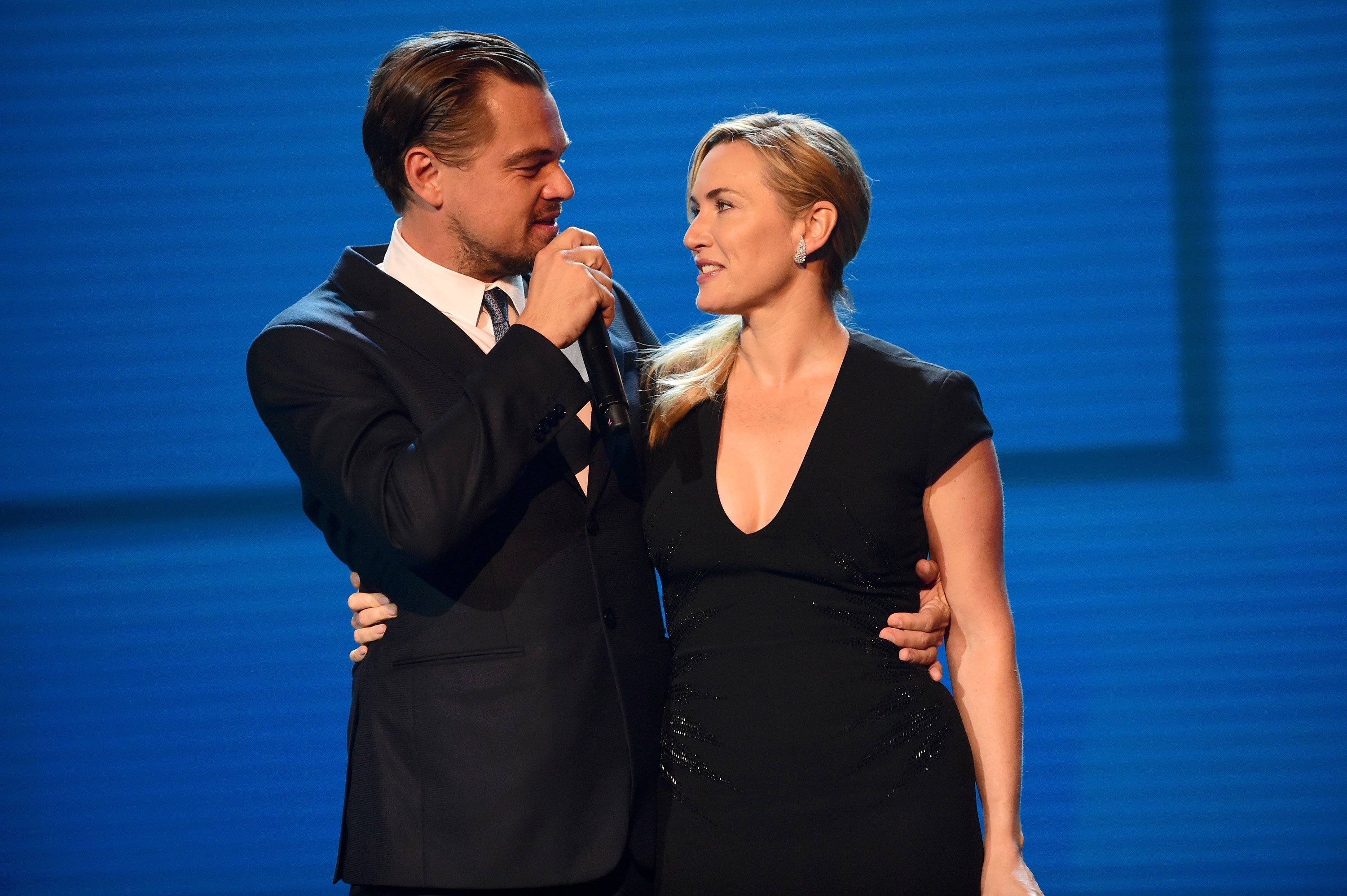 Image Source: Getty Images| Leo with Kate in an event