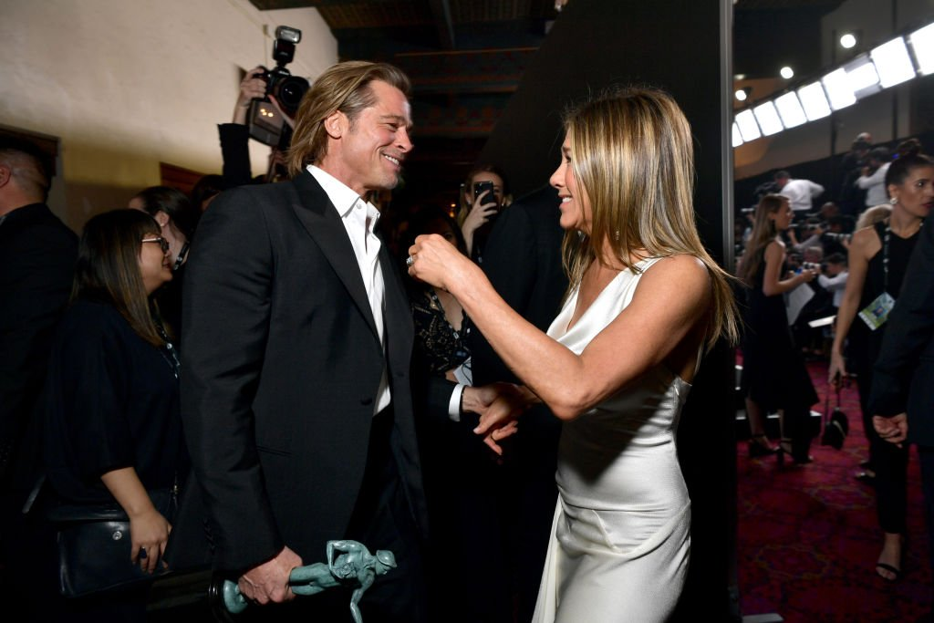 Image Source: Getty Images/Emma McIntyre/Brad Pitt and Jennifer Aniston attend the 26th Annual Screen Actors Guild Awards at The Shrine Auditorium on January 19, 2020 in Los Angeles, California