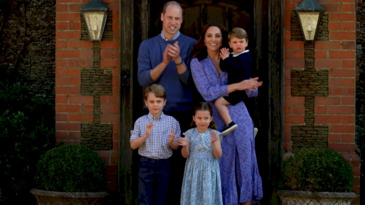 Image Credit: Getty Images / A screengrab of Prince William, Duke of Cambridge, Catherine Duchess of Cambridge, Prince George of Cambridge, Princess Charlotte of Cambridge and Prince Louis of Cambridge clap for NHS carers.