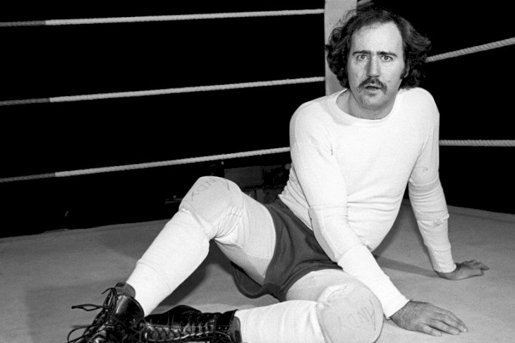 Image Credits: Getty Images / Andy Kaufman at a rehearsal for 'Teaneck Tanzi: The Venus Flytrap'