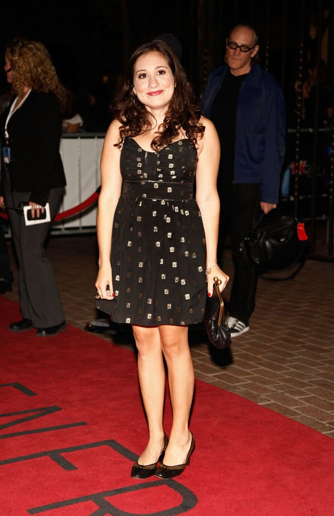 "Image Source:Getty Images/ Actress Lucy DeVito attends the ""Leaves Of Grass"" Premiere held at the Ryerson Theatre during the 2009 Toronto International Film Festival on September 14, 2009 in Toronto, Canada."