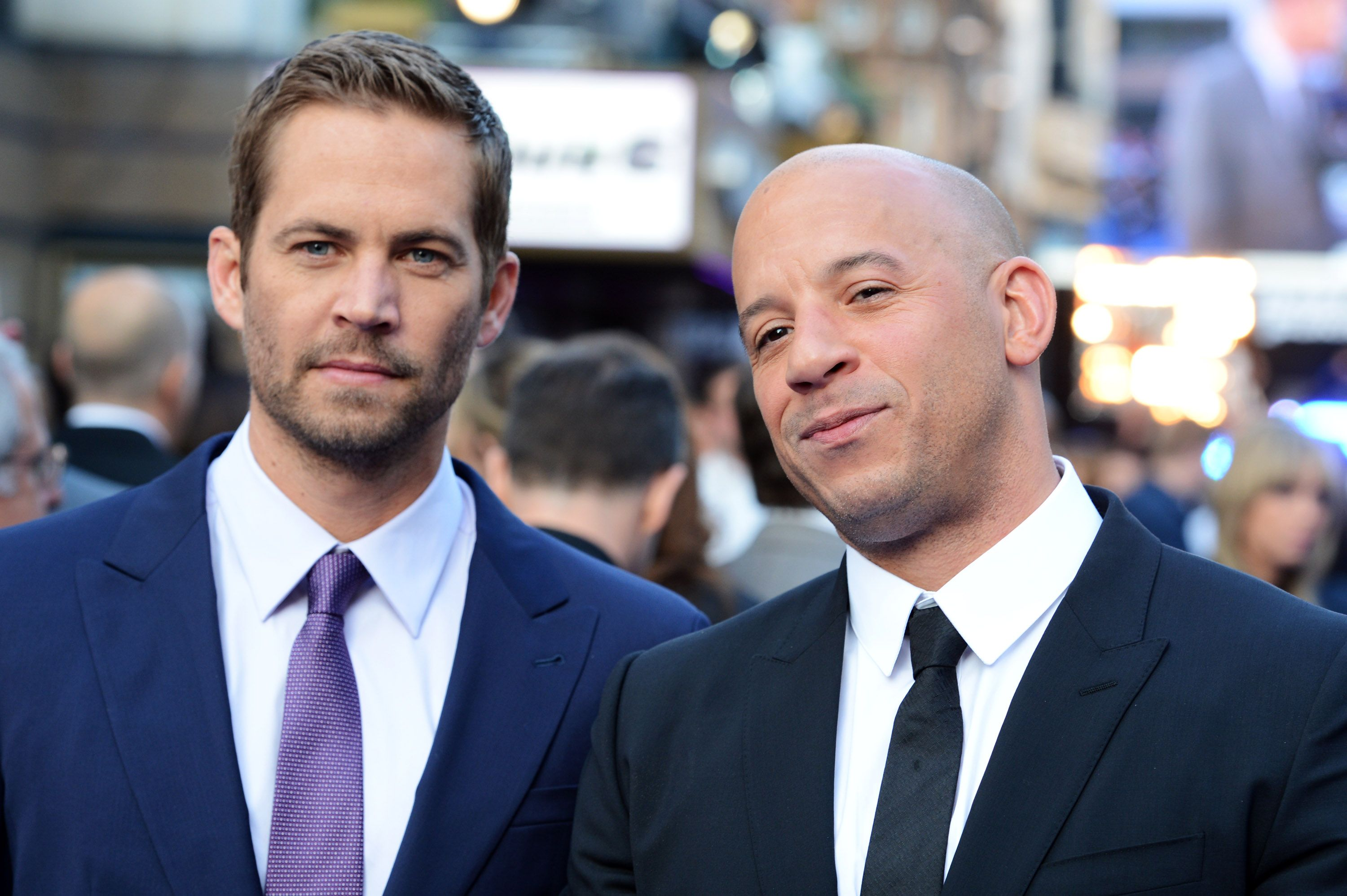 Paul Walker and Vin Diesel attend the World Premiere of 'Fast & Furious 6' / Getty Images