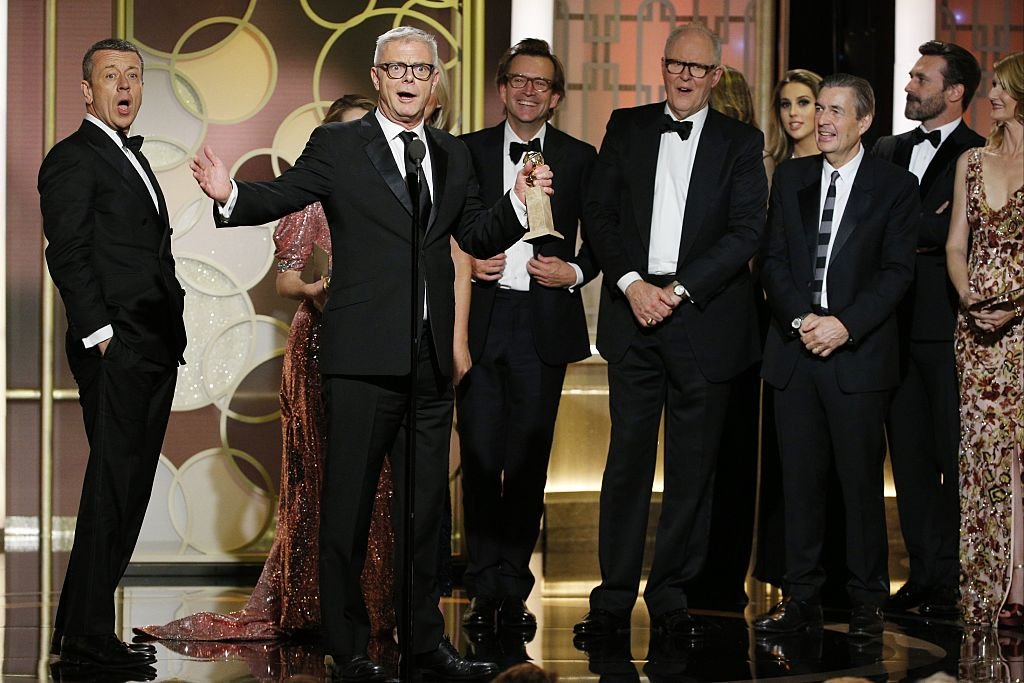 "Image Credits: Getty Images / Paul Drinkwater / NBCUniversal | In this handout photo provided by NBCUniversal, producer and director Stephen Daldry accepts the award for Best Television Series - Drama for ""The Crown"" onstage during the 74th Annual Golden Globe Awards at The Beverly Hilton Hotel on January 8, 2017 in Beverly Hills, California."