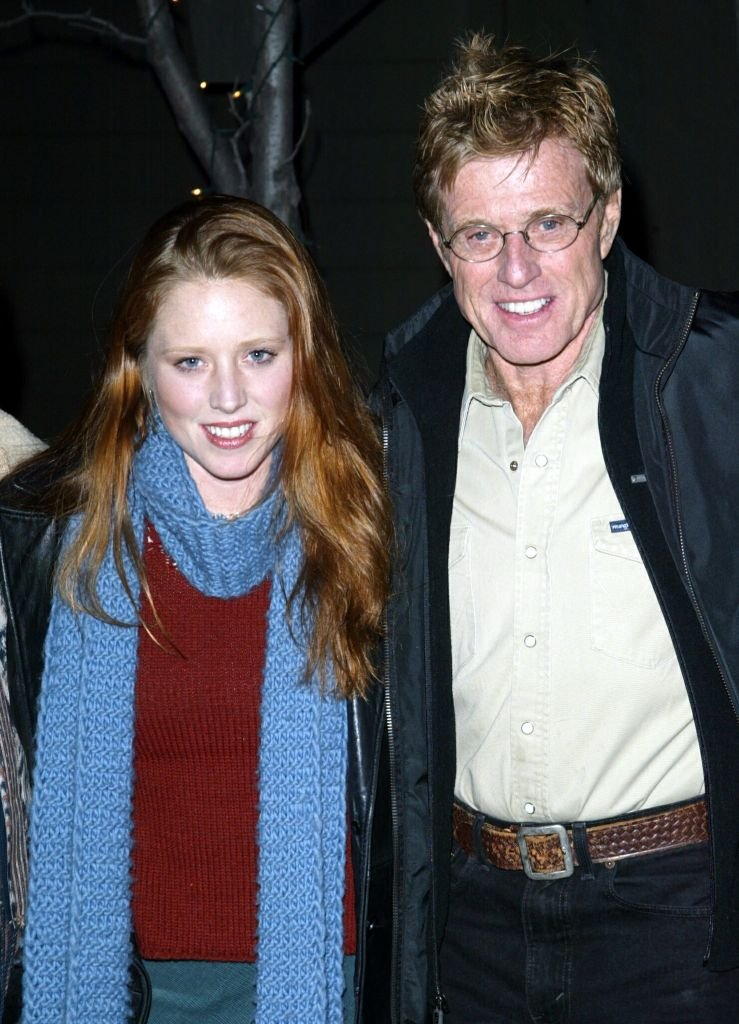 Image Credits: Getty Images / Frazer Harrison | Robert Redford and daughter Amy Redford at the premiere of Cry Funny Happy at the 2003 Sundance Film Festival on January 18, 2003 in Park City, Utah.