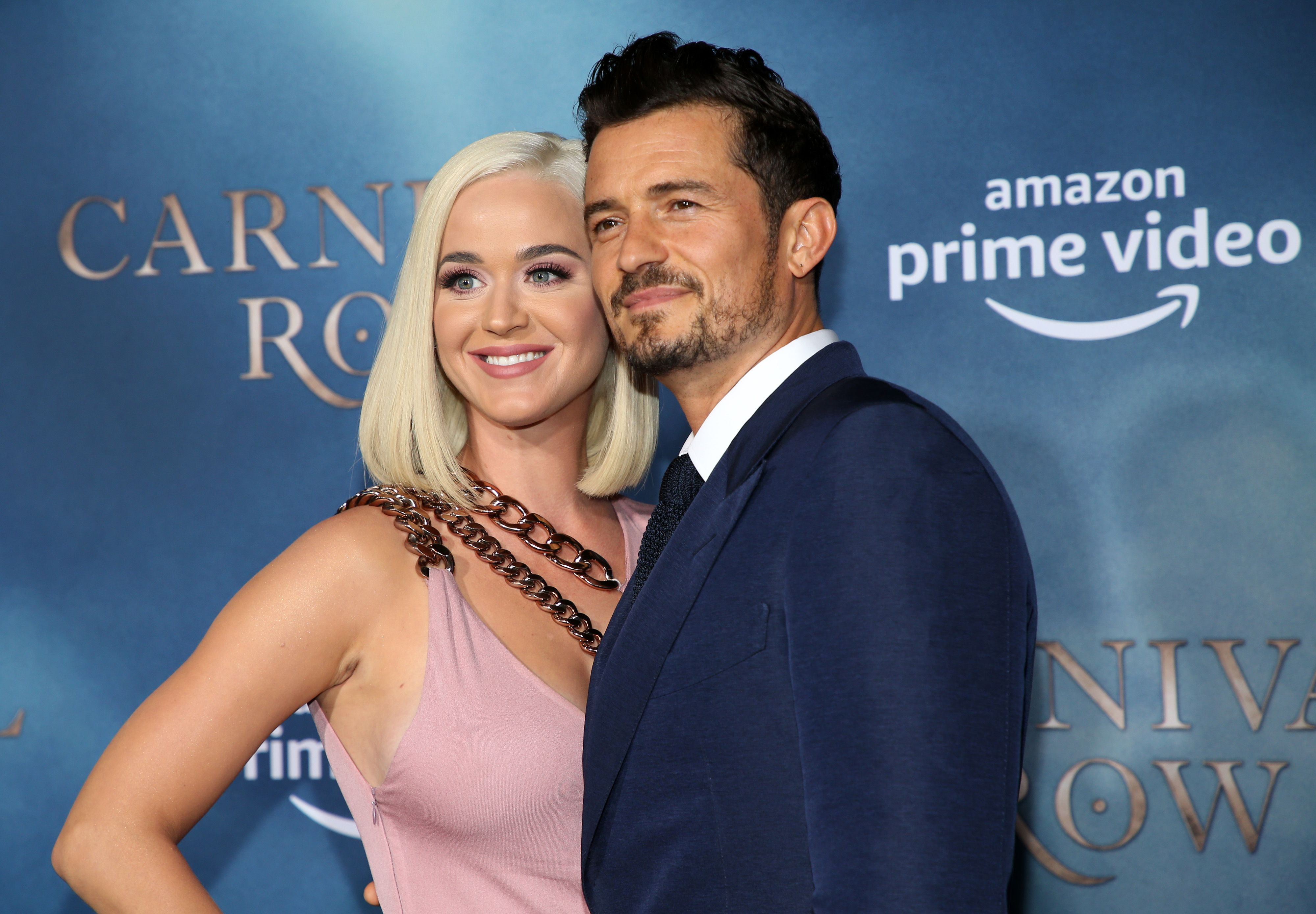 Katy Perry and Orlando Bloom at the Carnival Row premiere / Getty Images
