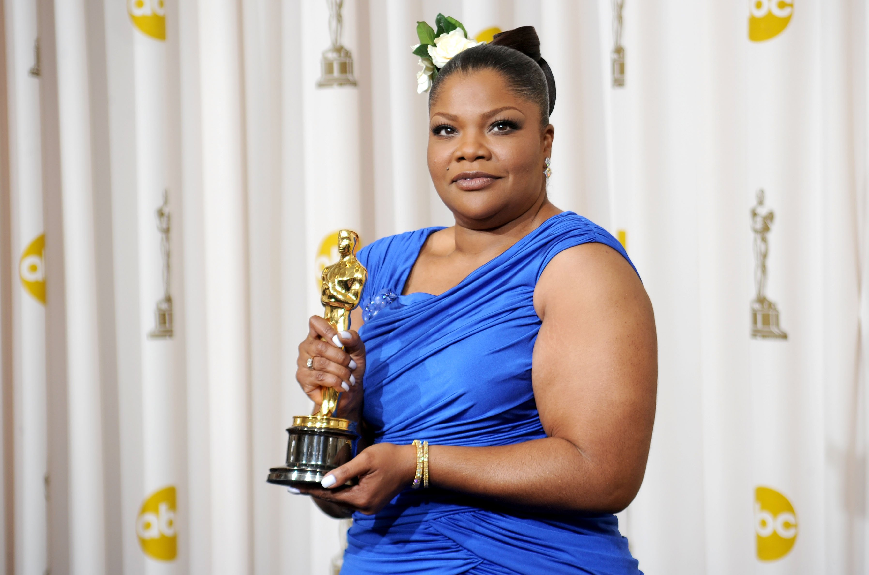 Image Credits: Getty Images | Mo'Nique posing with her Oscar