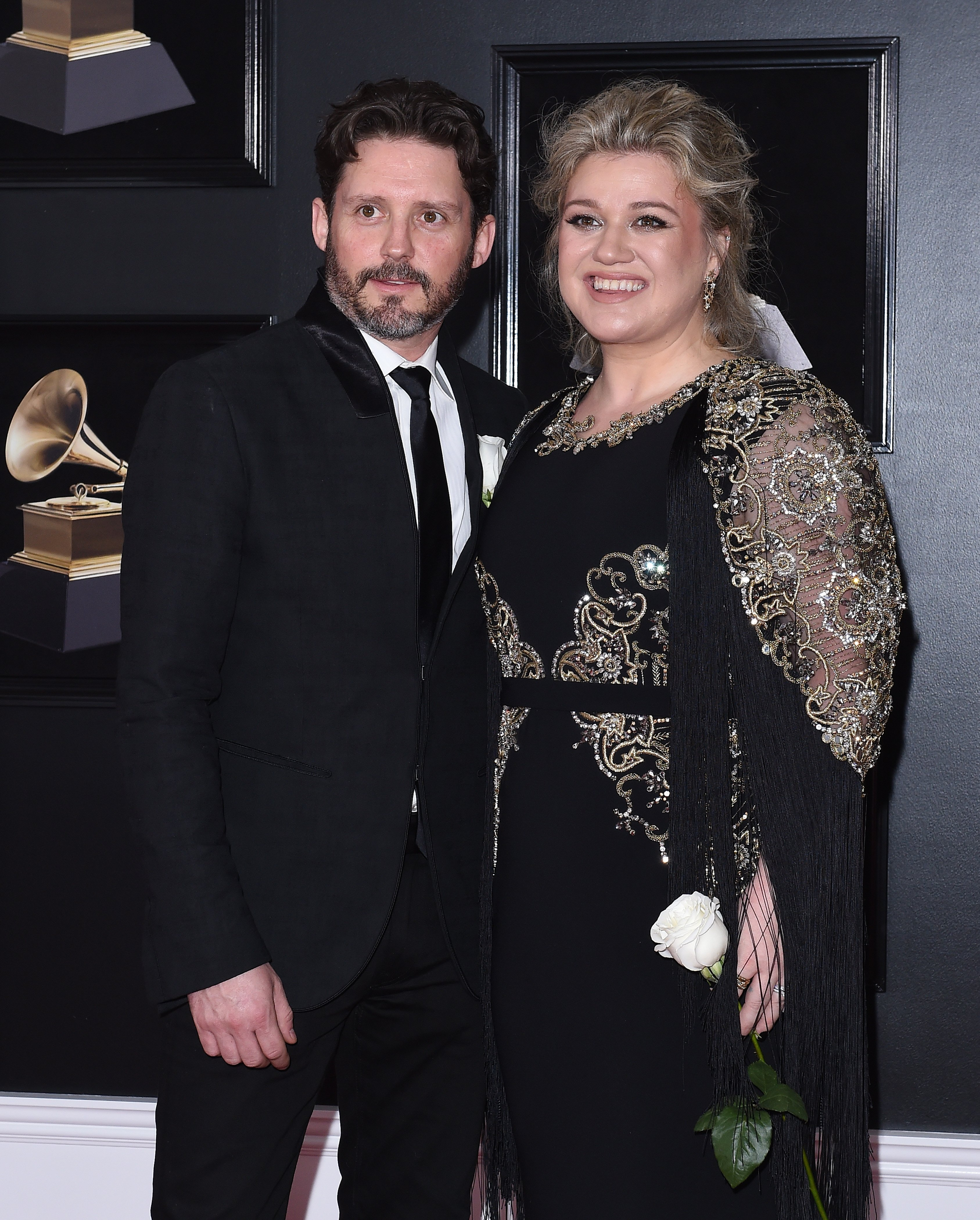 Images Source: Getty Images/Steve Granitz/Kelly Clarkson, Brandon Blackstock arrives at the 60th Annual GRAMMY Awards at Madison Square Garden on January 28, 2018 in New York City.