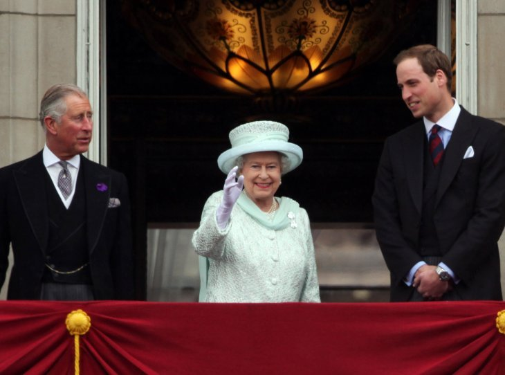 Image Source: Getty Images/Queen Elizabeth II with Prince Charles and Prince William