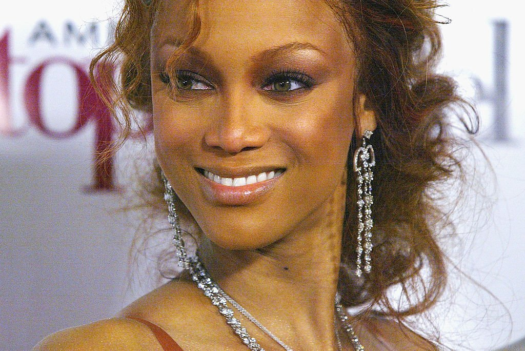 """Image Credit: Getty Images / Supermodel Tyra Banks attends UPN'S """"America's Next Top Model"""" finale party held at the Key Club, March 23, 2004 in Hollywood."""